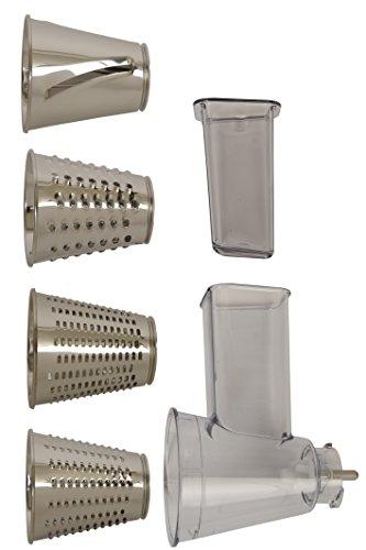 Moulinex XF6320B1- Set Accessori per grattugiare e affettare per Masterchef Gourmet
