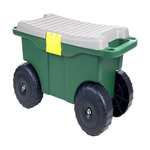 Garden Kneeler Pad Garden Stool Plastic Garden Storage Cart Scooter with Tool Bag Seat Handles for Women Garden Outdoor Yard