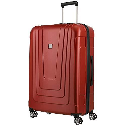 TITAN Koffer 4-Rad groß mit TSA Schloss, Made in Germany Gepäck Serie X-RAY: Robuster Hartschalen Trolley aus ultraleichtem Material, 700844-10, 102 Liter, atomic red (rot), Koffer L (77 cm)