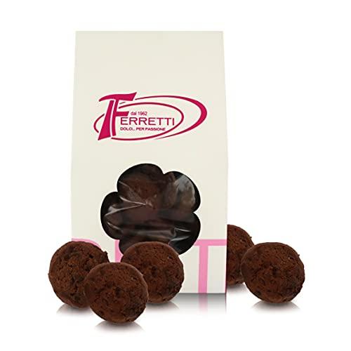 Galletas 'Cookies' con Cacao, Galletas Artesanales Horneadas en Italia, Paquete de 350 Gramos