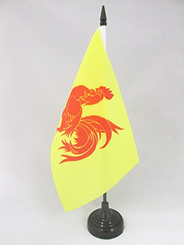 AZ FLAG Bandera de Mesa de Valonia 21x14cm - BANDERINA de DESPACHO VALONA - BÉLGICA 14 x 21 cm