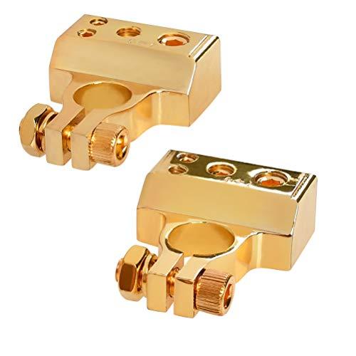 ATPWONZ Batterieklemme Autobatterie Klemmen Terminal Klemmen 1 Paar Batterieklemme Positiv & Negativ mit Staubdichtsdeckung