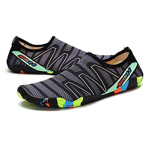 GAOLIE Zapatos de Playa para Hombres y Mujeres, Snorkeling, Zapatos de natación, niños Descalzos, ajustes Apretados, Zapatos de Buceo Antideslizantes, a la Deriva, Surf, va grey-37