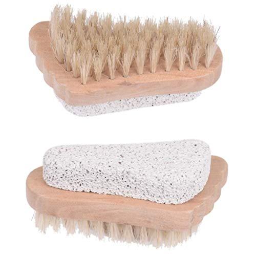 SUPVOX 2pcs pied brosse pierre ponce avec poignée callosités dissolvant de maïs exfoliant laveur