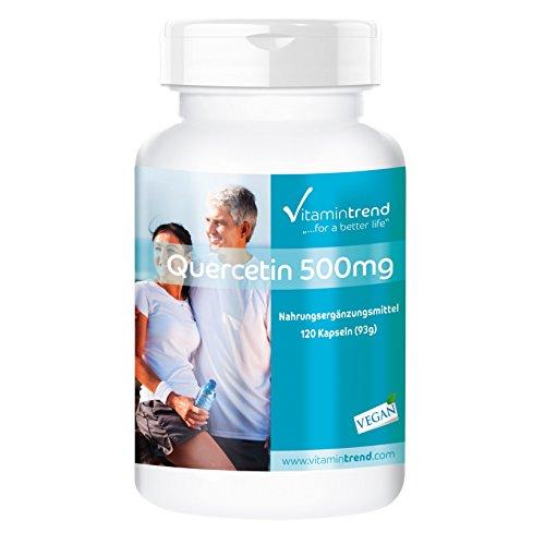 Quercetina 500 mg - 120 capsule - Vegan - Altamente dosata - Antiossidante
