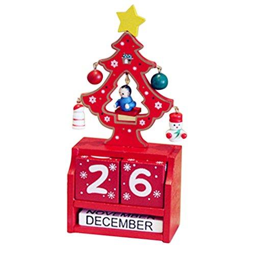 & # X266B; calendario dell' avvento riutilizzabili in legno Decor DIY Christmas countdown Gift Surpriseornament regali di Natale per bambini