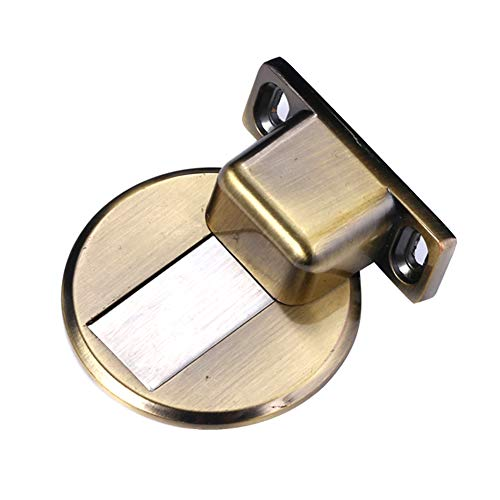 Gizayen Door Stopper Door Catch Stainless Steel Suction Door Stops Invisible Anti-Collision Punch Zinc Alloy Magnetic for Home
