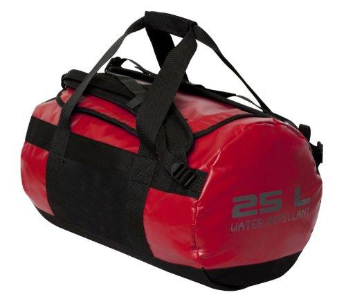 noTrash2003 Sporttasche aus LKW Plane im Messenger-Bag Style, 25 Liter Volumen, auch als Rucksack verwendbar (Rot)