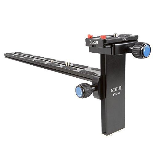 """SIRUI TY-350 Objektivschiene (Alu, 1/4\"""" und 3/8\"""", Schiene: 35cm, 0.45kg,  Belastbarkeit: 8kg, Arca-Swiss kompatibel)  für K-30X und K-40X"""