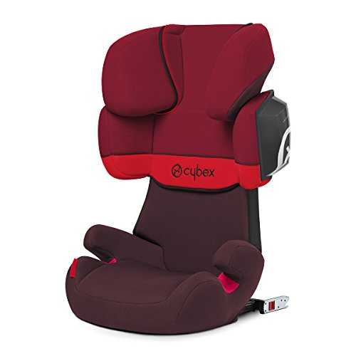 Cybex Silver Solution X2-fix, Autositz Gruppe 2/3 (15-36 kg), Mit Isofix, Rumba Red