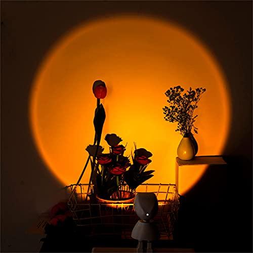 Wandskllss Lámpara De Proyección De Puesta De Sol Con Rotación De 361 Grados Lámpara De Puesta Luz De Estado De Ánimo Para El Hogar Fiesta Salón Dormitorio Bar Tienda Luz Puesta Del Sol
