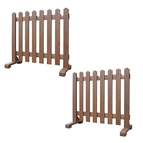 木製 物干しフェンス -ブラウン- 【受注製作品】2台で1セット