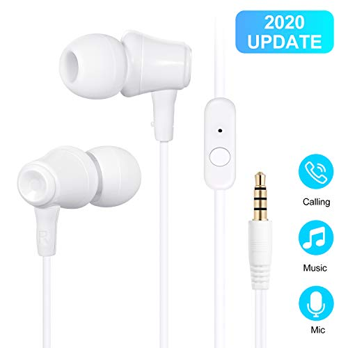 Earbuds, Amoner in Ear Headphones Wired Waterproof Sports Earphones, Stereo Sound Headphones Headsets with Built-in Mic for Phone 6/6s Plus/5s/SE, Galaxy, Android Smartphones, Tablets