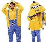 AOQILN Pijamas de una Pieza con Forma de pequeño Hombre Amarillo Creativo Personaje de Dibujos Animados Juego de Roles Vestido de Personalidad para el hogar Adulto L Minions