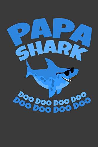 Papa Shark Doo Doo Doo Doo: 100 leeres Karo Papier | ca. A5 (6x9