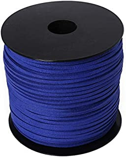 JJESC 2.8mm 100Yard Macrame Braided Faux Suede Cord Leather Lace DIY Handmade Beading Bracelet Jewelry Making Flat Thread ...