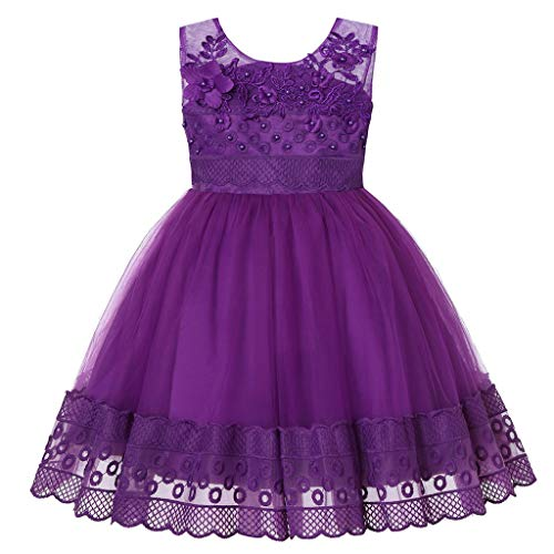 Snakell Mädchen Kleider Festlich Blumenmädchenkleid Kinder Brautjungfern Hochzeitskleid Partykleid Kleid Prinzessin Kleid Taufkleid Festlich Kleid Kleinkind Festzug Kinder Kleidung Tüll Kleid