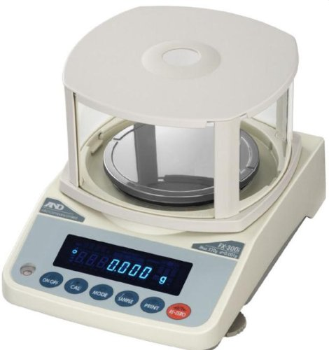 AnD Engineering FX-300i FX-i Precision Toploaders, 5 9/10 Inch Diameter Pan Size, 320 Gram Capacity, 0.01 Gram Readability