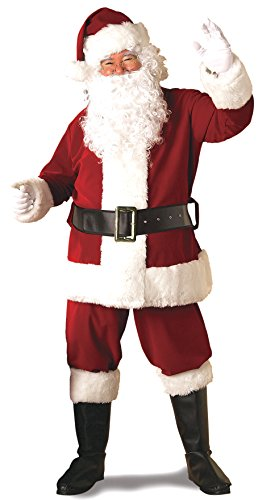 Rubie's Adult Deluxe Ultra Velvet Santa Suit With Gloves, XX-Large