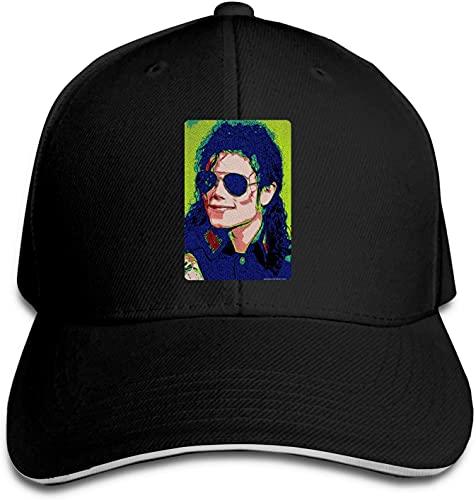 'N/A' SBLB Michael Jackson Gafas de sol de neón efecto pixelado adulto gorra de béisbol deportes al aire libre para hombres y mujeres Snapback