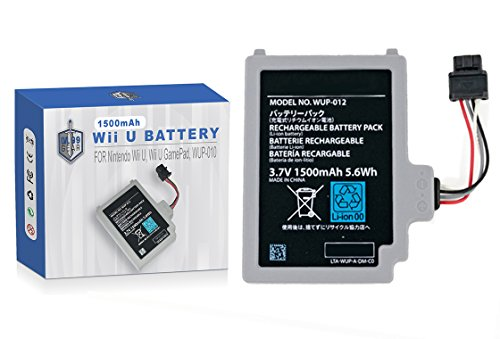 Supercharged Gamepad Battery for Wii U - Longest Lasting Rechargeable Battery for Nintendo Wii U Gamepad by LVL99Gear