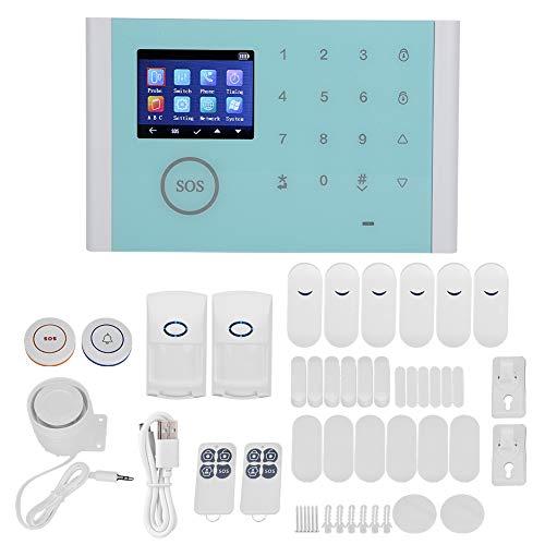 Zerodis Tipo WiFi + gsm + GPRS Sistema di Sicurezza Domestica Intelligente Allarme antifurto Kit Wireless Fai-da-Te Sistema di Allarme antifurto per Sicurezza Domestica Casa Ufficio Appartamento