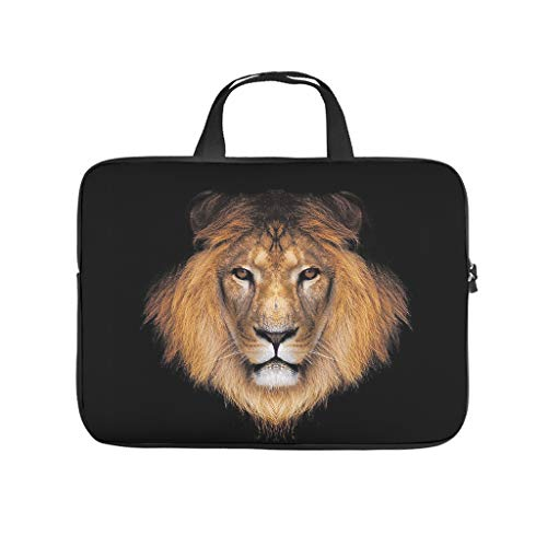 lion animal Laptop bag Pattern Laptop Case Bag vintage Scratch-Resistant Notebook Carrying Case with Portable Handle for Women Men white 12 zoll