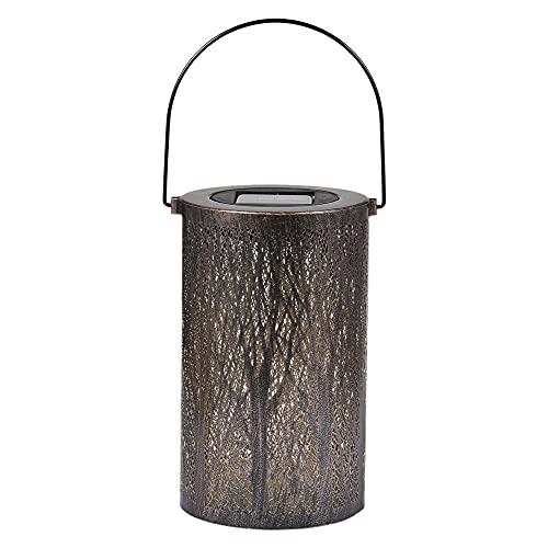 Lámpara de Linterna de luz Solar Hueca LED Que cuelga la decoración del Paisaje del Patio del jardín de la proyección al Aire Libre