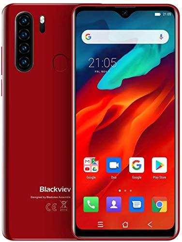 Blackview A80 Proクアッドバックミラーカメラ6.49 'グローバルバージョンWaterdrop携帯電話4GB + 64GB (赤)