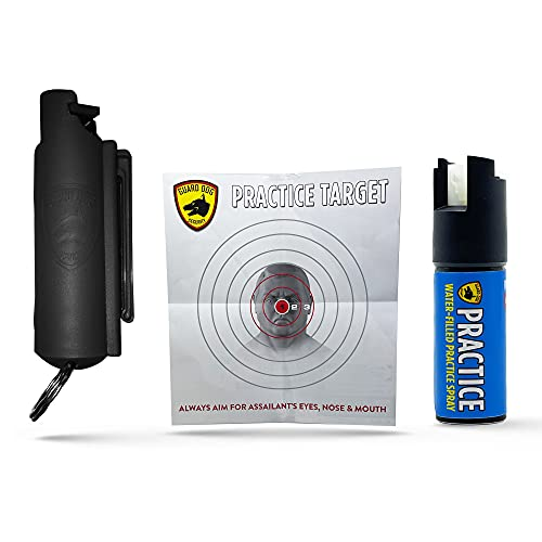 GUARD DOG SECURITY Quick Action Pepper Spray Keychain - Maximum Strength MC 1.44 - Pepper Spray Range up to 16 ft - Made in USA