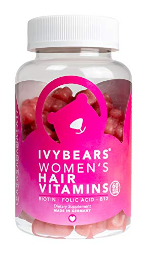 IvyBears | Haar Vitamine Frauen | Biotin Folsäure Vitamin C | Vegan - Frei von Titandioxid | Nahrungsergänzungsmittel | Made in Germany (Women's Edition)