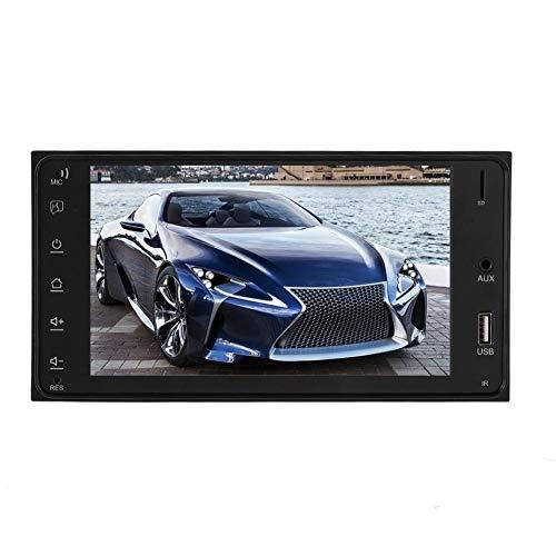 Monitor retrovisor de vídeo MP5 para coche 7 en coche MP5 2 Din GPS reproductor multimedia de marcha atrás con cámara impermeable de 8 LED para Toyota