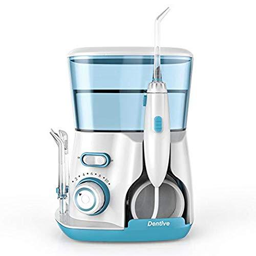 Water Flosser for Teeth, Dentive Dental IPX7 Waterproof Professional Aquarius Water Flosser– 800ml Water Capacity, 7 Flossing Tips, 10 Levels Adjustable