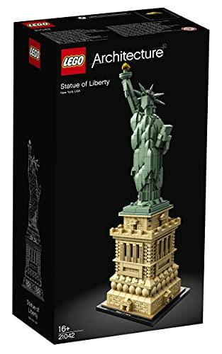 LEGO21042ArchitectureEstatuadelaLibertaddeNuevaYorkSetdeConstrucción,ModelodeColeccionista,MaquetaDecorativa