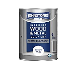 Low odour, water based formulation. Provides the perfect base for Johnstone's Quick Dry or Hardwearing Gloss and Satin products. Dry time: 30 minutes Coverage: 16m2 (per tin).