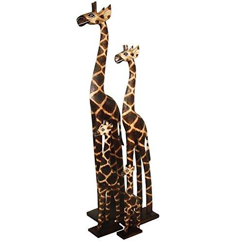 maDDma ® 1 Giraffe aus Holz, Deko-Giraffe, Fire Paint, 50 cm Figur Standfigur Holzgiraffe