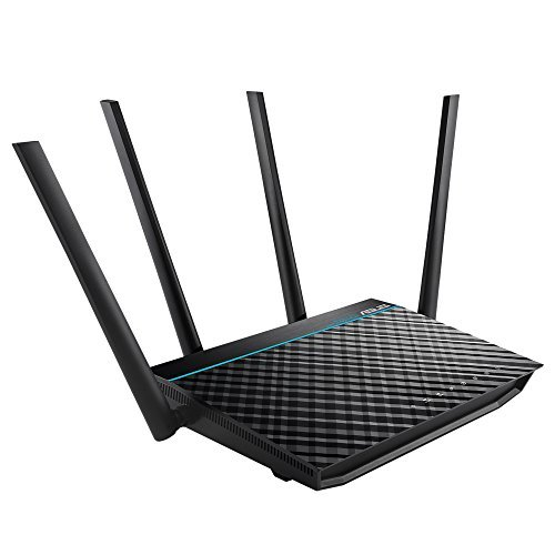 ASUS RT-ACRH17 Concurrent Dual Band AC1700 Wi-Fi Wireless Router with Gigabit LAN Ports, USB 3.0 and AiRadar Beamforming Technology