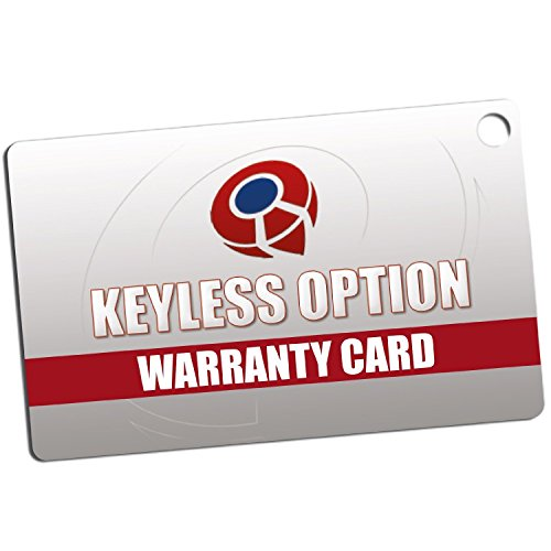 KeylessOption Keyless Entry Remote Car Key Fob and Key Replacement For 15732803