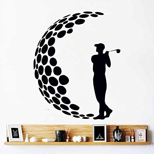 Wandtattoos Abnehmbare Schlafzimmer Wohnkultur Golf Club Unterhaltung Sport Türen Und Fenster Vinyl Aufkleber 63X78Cm