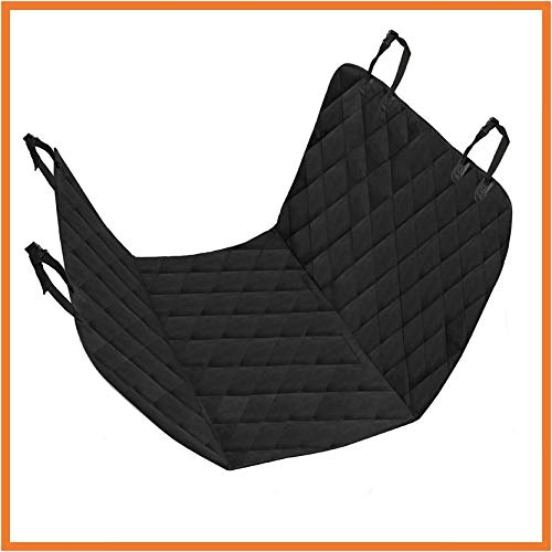 Floxik Premium Hundedecke für jedes Auto - wasserdichte, widerstandsfähige Autoschondecke für Hunde - Schondecke für Rückbank fängt Nässe, Schmutz & Haare + gratis Spielzeug & Tasche
