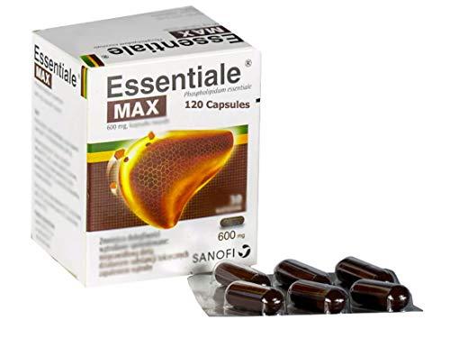 ESSENTIALE MAX 600mg 120 Capsules. Made in France/Poland. Polish Distribution, Polish Language.