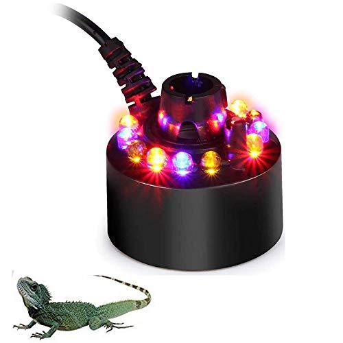 Reptile Luftbefeuchter LED Kapazität Zerstäuber kein Lärm kühlen Nebel, der Maschine Amphibien verwendet für Schildkröten Schlangen Eidechse Gecko Spinnen-Crawler