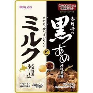 春日井製菓 春日井の黒あめとミルク 70g ×6袋