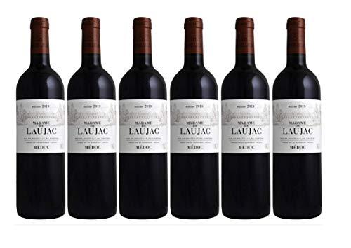MADAME DE LAUJAC - 6 bouteilles - Grand Vin Rouge de Bordeaux Médoc - AOP Médoc - 2018