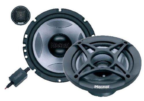 Magnat Dark Power 213 Haut-parleur auto Compo 13 cm 2 voies 60/240 Watt Noir/argent (Import Allemagne)