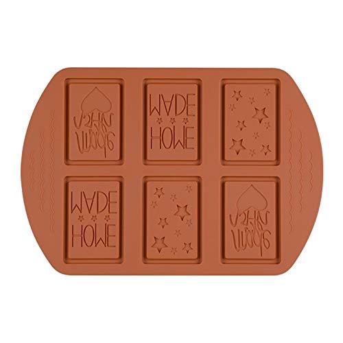 Moonlight Star Moule à gâteau au Chocolat en Silicone for Porous Multi-modèle créatif Main Pudding Ice Plateau Biscuit Outils de Cuisson Ustensiles de Cuisson Moules (Couleur : Chocolate)