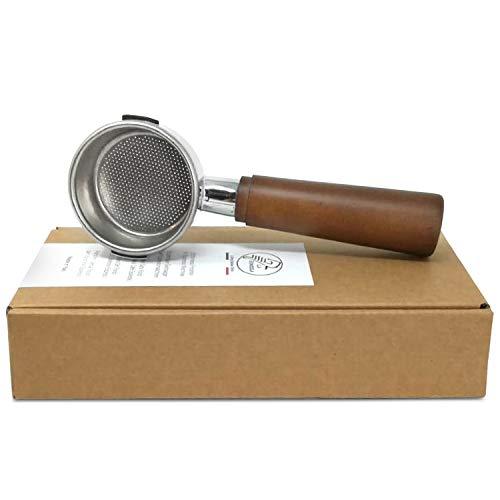 Bodenloser Siebträger Lusso für Handhebel Espressomaschinen Europiccola Professional Stradivari Lusso Inkl. Sieb für 2 Tassen