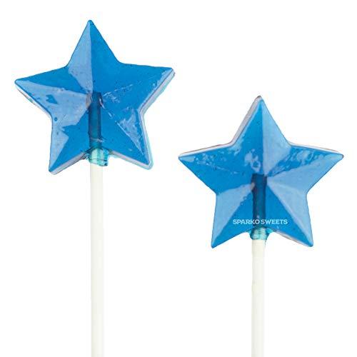 Blue Star Lollipops, Blue Raspberry Flavor, 2