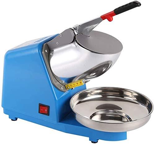 SMLCTY Ice Crusher Smoothies Shaver Maschine Doppelklingen-Schnee-Kegel-Hersteller-Maschine EIS Blender Chopper for Heim Gewerbliche Küche Bar Milk Tea Shop (Size : Blue)