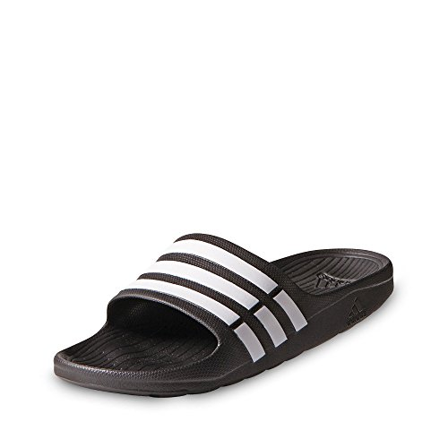 adidas Duramo Slide, Chanclas Unisex Adulto, Negro (Black/White/Black), 37 EU